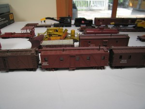 Milwaukee Road models on display at the 2010 meet