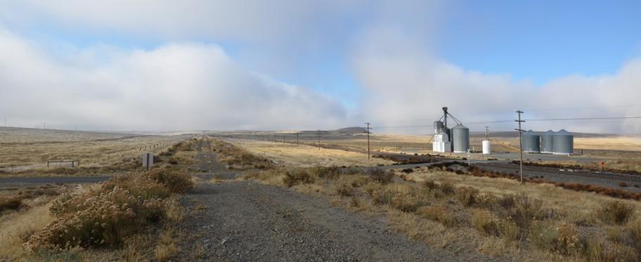 Looking west on the John Wayne Pioneer Trail at Marengo, WA