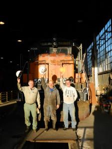 Volunteers Bill Sery, Wayne Monger, and Fred High