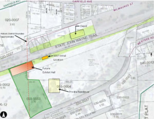 Proposed 5057 location in the South Cle Elum Rail Yard