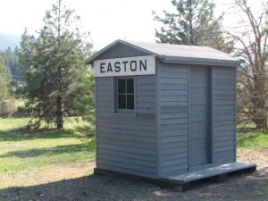 The Easton Telephone Shack is completed. The craftsmanship and dedication of volunteer Roger Sackett shows in the results.