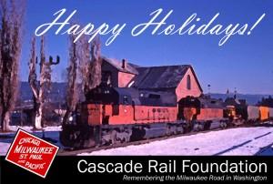 Happy holidays from Cascade Rail Foundation