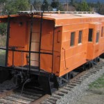 Milwaukee Road rib side caboose at South Cle Elum