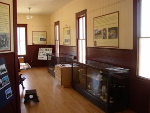 New displays in the depot museum