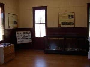 Another view of the new interpretive panels in the depot museum