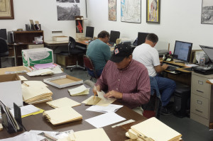 Volunteers working on CRF archival collections at PNRA in Burien
