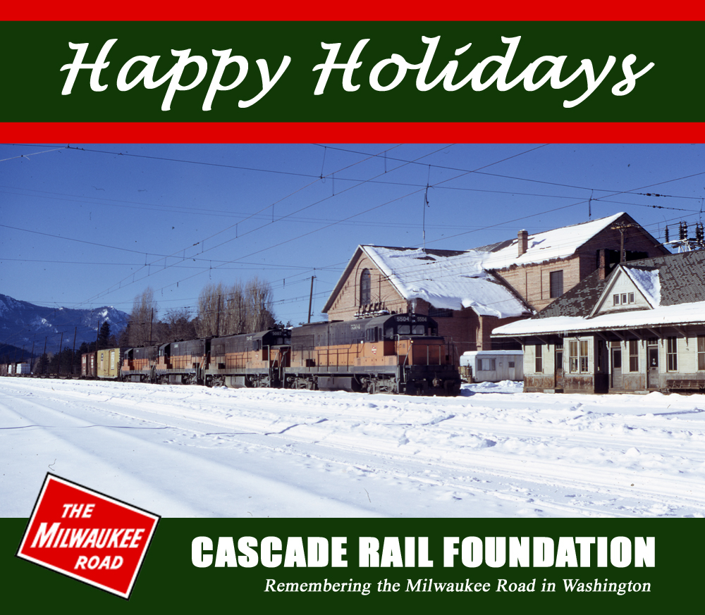Seasons Greetings Cascade Rail Foundation 2015