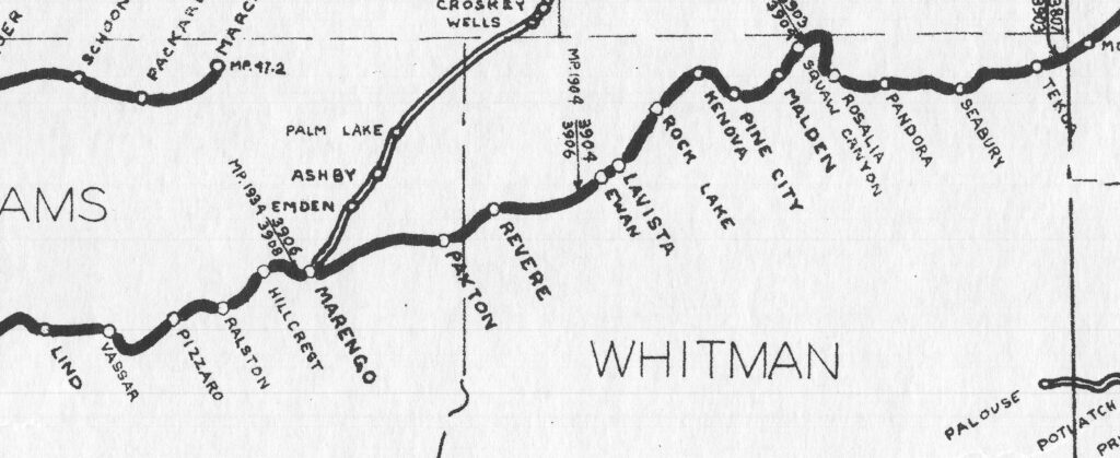Map showing the area where replica station signs will be installed.